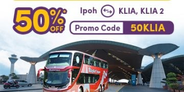 50%-off bus ticket from ipoh to KLIA KLIA 2 airports