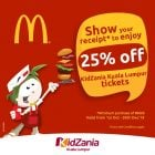 kidzania mcdonalds promo ticket
